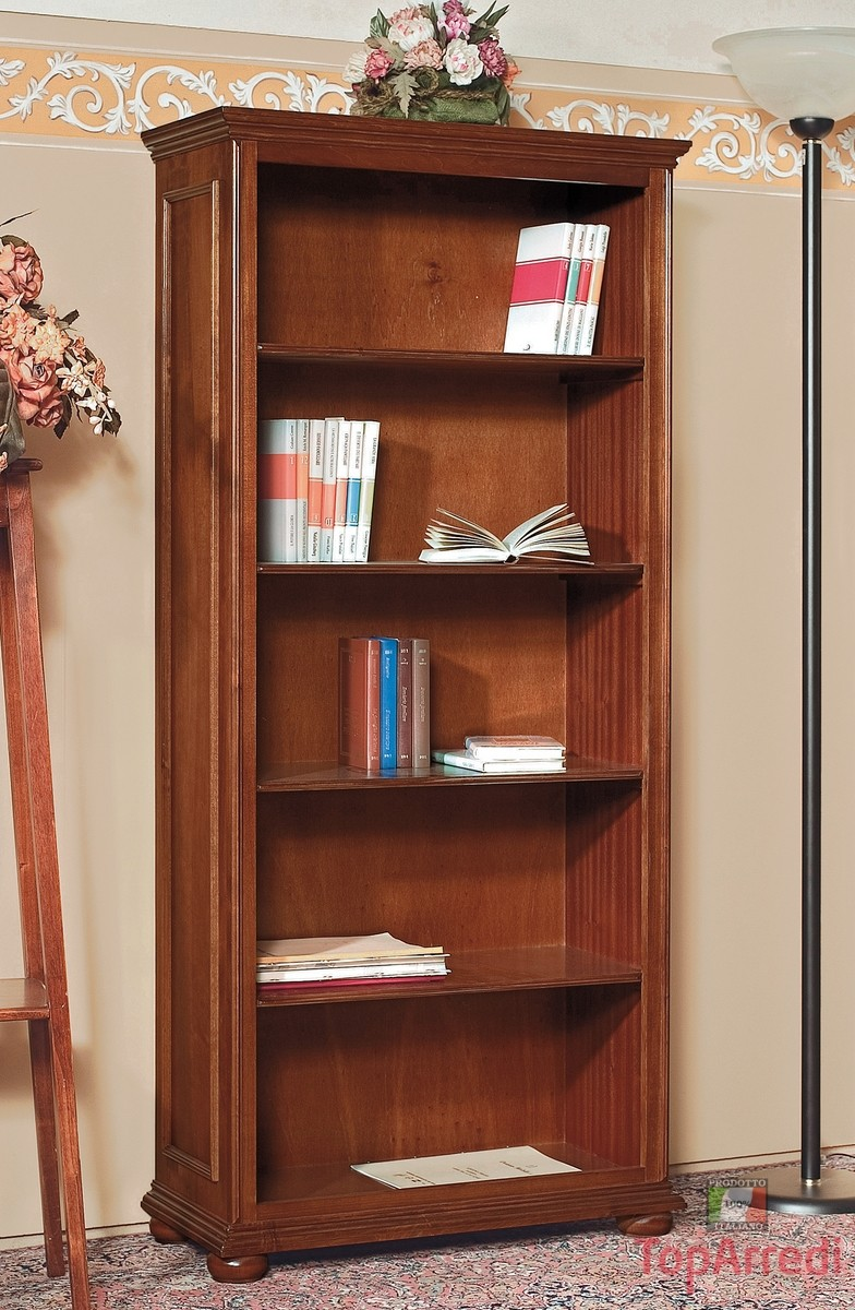 Libreria In Legno Noce.Libreria Porta Oggetti Monaco Larredotrieste