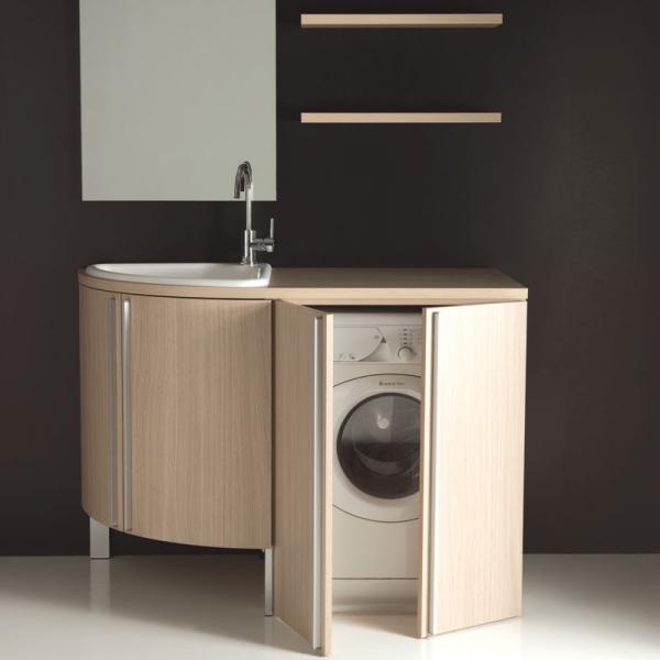 Mobile lavanderia con vasca lavapanni base angolare e base ...