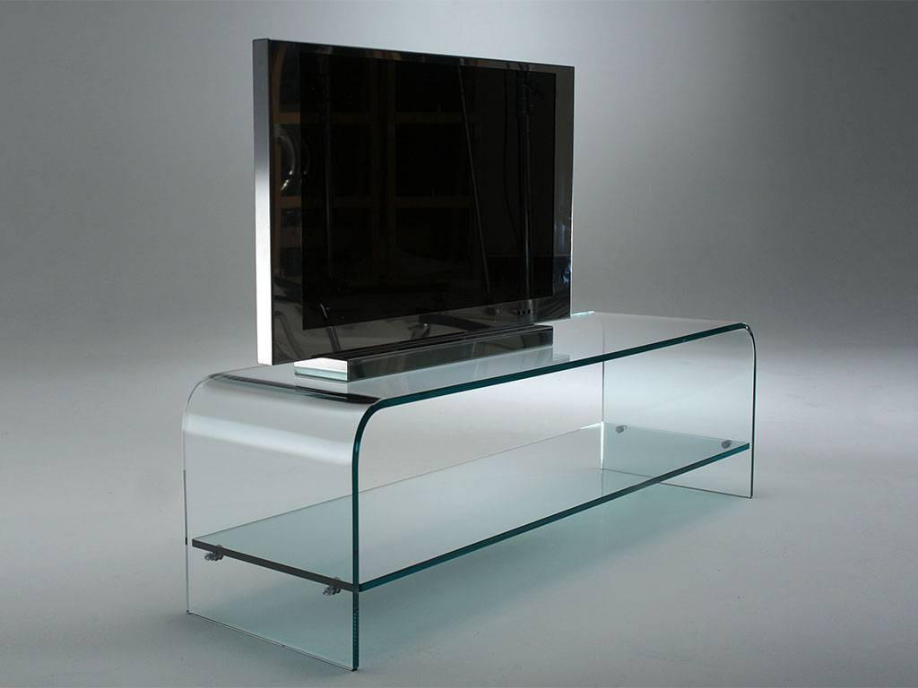 Mobile porta tv mobile in vetro curvato Modello Tango - LarredoTrieste