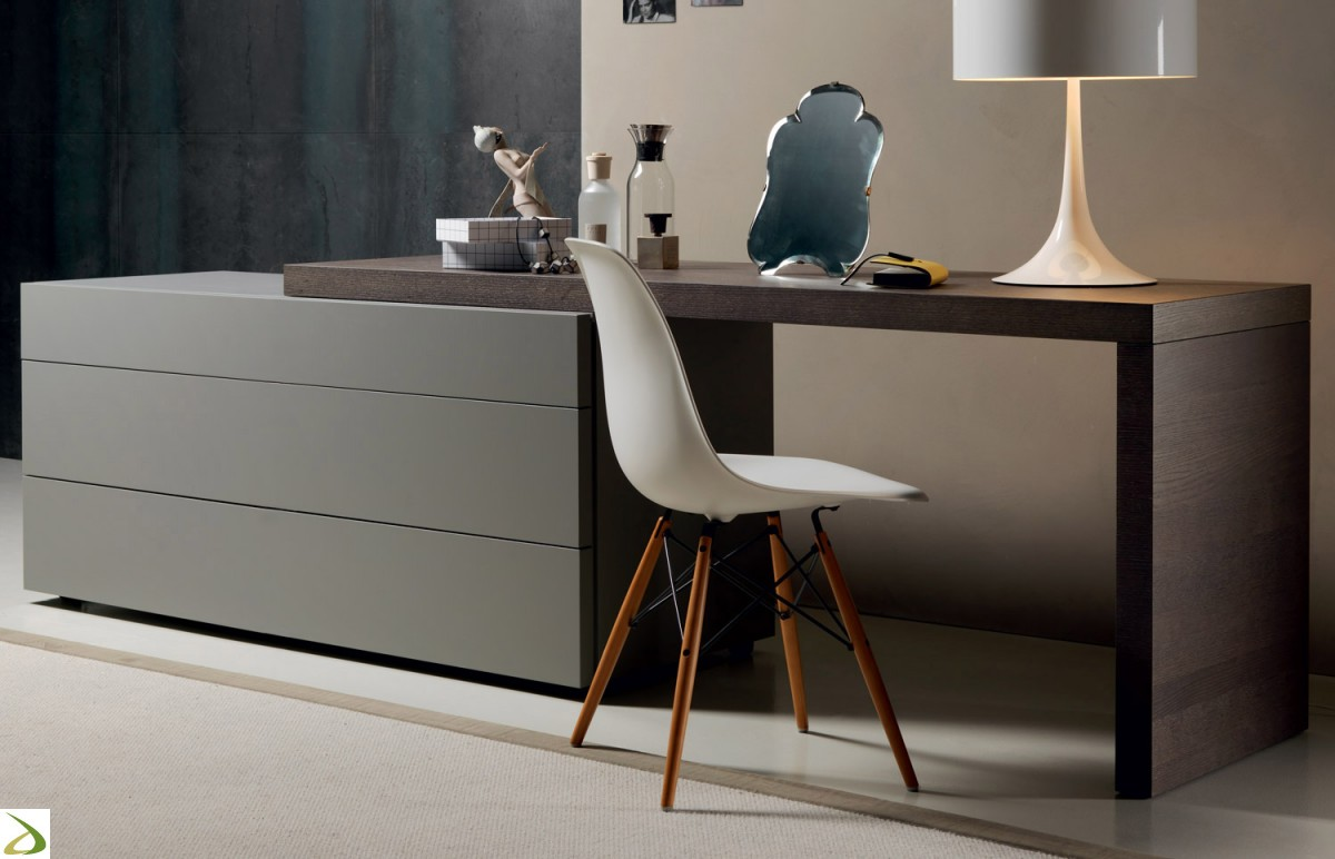 Scrivania Con Cassettiera Ikea comò 3 cassetti modello alveo - larredotrieste